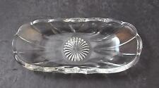 "Vintage Imperial Glass Old Williamsburg Clear Discontinued Relish 8 1/4"" GD31"
