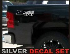 Z71 4x4 Truck Bed Decals, Silver Metallic (Set) for Chevrolet Silverado