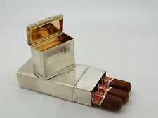 Antique Silver Snuff box & Cigar Holder Combination Birmingham 1830 –Thomas Shaw