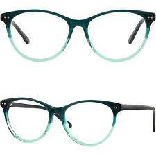 Leichte Dünne Damenbrille Brillengestell Optikerbrille Kleine Applikationen Grün