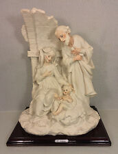 Vtg Giuseppe Armani Sculpture of the Christ Family on Wood Base Signed 1983 Flor