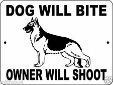 GERMAN SHEPHERD  DOG SIGN, SECURITY SIGN,ALUMINUM, WARNING SIGN,DWBOWS1