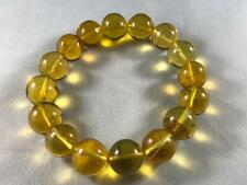 DOMINICAN AMBER CLEAR BRACELET GREEN MIX UNIQUE STONE GEM 26.3g 14-14mm