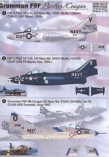 Print Scale Decals 1/72 GRUMMAN F9F PANTHER & COUGAR U.S. Navy Jet Fighter
