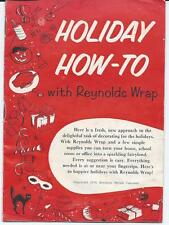 RARE HOLIDAY HOW TO WITH REYNOLDS WRAP BOOKLET 1954