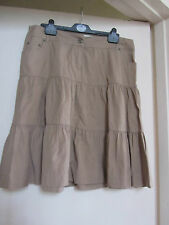 Low Rise Light Brown Cotton Primark Skirt in Size 14 - NWOT
