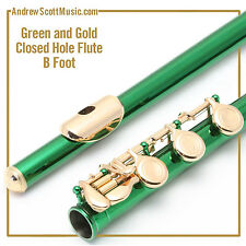 Green and Gold Flute with B Footjoint - Masterpiece, Wind Instrument