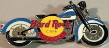 Hard Rock Cafe COZUMEL 1998 Motorcycle PIN Blue & White Fenders & Tank HRC #2095