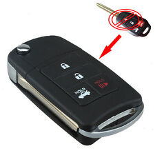 4 Button Case Shell Folding Uncut Key Remote Fob Flip For Toyota Corolla Camry