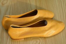 Clearance sale women leather flat manon ballet ballerina in camel us8 eu38 marti
