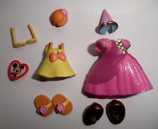 DISNEY POLLY POCKET PRINCESSE MINNIE VETEMENT avec ACCESSOIRES BE POCKET !!