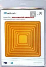 """Quickutz Lifestyle Crafts NESTING ROUNDED SQUARES 18 Dies 1.25"""" to 5.5"""" L-CC-002"""