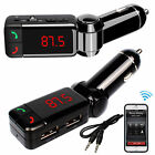 Bluetooth Car Kit MP3 FM Transmitter SD USB Charger Handsfree For Phone Android