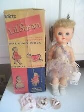 VINTAGE EEGEE Blonde  Lil Susan Walker Doll w/ Bended Knees WITH ORIGINAL BOX