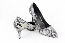 Ladies Snake Print Court Heel Womens Size 8 UK Mid High Stiletto Heel Pointed