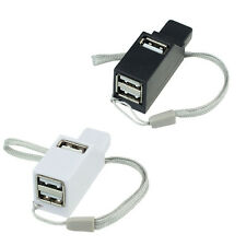 480Mbps Speed 3 Porta Mini HUB USB 2.0 Adattatore per PC Smartphone Bianco Nero
