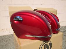 MU Burgundy Red Motorcycle Hard Saddle bags fits most SHADOW SABRE VALKYRIE