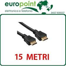 Cavo HDMI da 15mt metri con Ethernet Alta velocità Maschio/Maschio Full HD