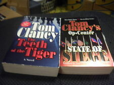 State of Siege + The Teeth Of The Tiger by Tom Clancy  etc,,,   (r)
