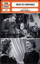 ABUS DE CONFIANCE - Darrieux,Vanel (Fiche Cinéma) 1936 - Abused Confidence