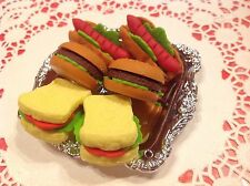 """For 18"""" American Girl Dolls Miniature Mini Pretend Toy PLAY FOOD Tea Party Tray"""