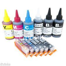 6 COLOR Refillable Ink Cartridge KIT For Canon PGI-250 CLI-251 MG7520 Cartridge