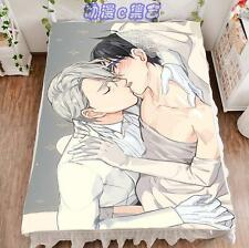 New Anime YURI!!! on ICE Yuri Viktor Cosplay Flat Bed Sheet Blanket Collection