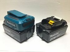 Qty 2 Makita BL1840 18V GENUINE Batteries 4.0AH + ADP05 USB ADAPTER