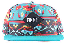 Neff Sublimated Native Peppers Snapback Hat Headwear Cap Boys Kids Multi Youth