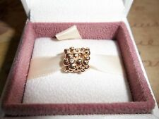 Genuine Authentic Pandora 14ct Gold Diamond Daisy Charm 750344D - RRP £555  RARE
