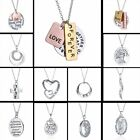 Personalize English Proverbs Letters Love Heart Dangle Pendant Necklace Jewelry