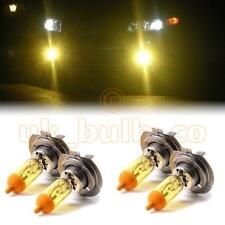 YELLOW XENON LOW + HIGH BEAM BULBS FOR Peugeot 306 MODELS H7H7