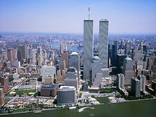 Twin Towers NYC areal shot 1999 13 x 17 Giclee Print