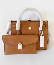 NWT Michael Kors Mercer Large All in One Leather Bag ~ Luggage