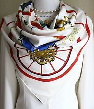 "Authentic Hermes Paris Silk Scarf ""Springs"" Philippe Ledoux 90 CM"
