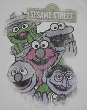 Sesame Street - Oscar Cookie Monster Elmo Grover The Count t-shirt - size L
