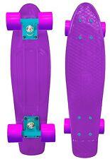 """Mayhem Cruiser Board 22""""  Skateboard Purple 2 Tone Purple Pink Wheels"""