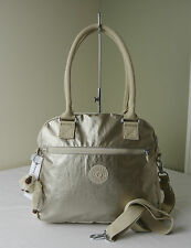 Kipling HB6599 Champagne Metallic Combo Cadie Triple Compartments Satchel