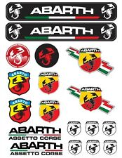 Abarth Aufkleber Sticker 1 Satz 18 Stk. Full color HD