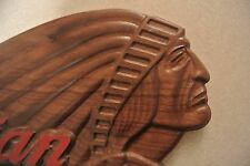 Indian Motorcycle Sign Walnut Wood Plaque American Made Home Made