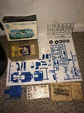 3 Vintage 1960's Mecom Lola T-70,Ford Cougar II,Mustang II,IMC Model Kit Kits