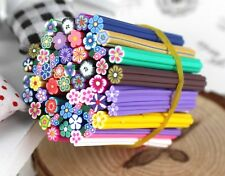 10pcs Mix Fimo Canes Flowers Rod Polymer Clay 3D Nail Art Sticker Decoration