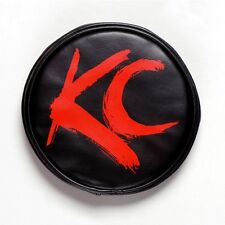 KC Hilites 5110 Light Cover  6 in. Round  Red on Black Vinyl  KC Letters