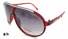 Men & Women's Retro Sunglasses Unisex Matte Frame Carrera Glasses Burgundy