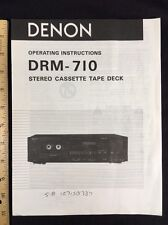 Denon DRM-710 Stereo Cassette Deck Original Owners Manual 12 Pages DRM710