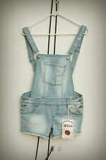 NWT 1st Kiss Romper Hot Mini Short Shorts Overall Engineer Stripe Medium Junior