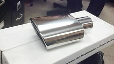 "00747 Polished Stainless Steel Oval Exhaust Tip - 2.25"" Inlet - 5.5"" X 3"" Outlet"