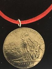 "Charles Edward Stuart Coin WC39 Fine English Pewter On a 18"" Red Cord Necklace"