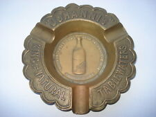 "C1910 VINTAGE ""JOHANNIS"" KING OF NATURAL TABLE WATERS BRASS ADVERTISING ASHTRAY"