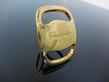 Salvatore Ferragamo Gold Scarf Ring Holder excellent Condition!!!